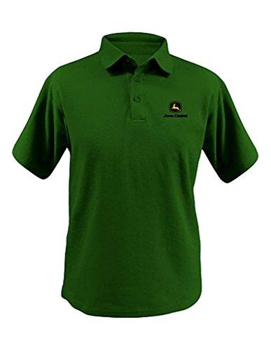 Top of The World Herren John Deere Logo Polo Shirt–Herren, Herren, 13690029, John Deere Green, XXL