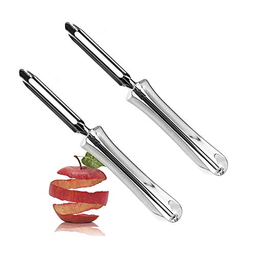 Vegetable Peeler, Potato Peeler for Kitchen Stainless Steel, Ergonomic Handle for Safety and Control Great for Apples Carrots Rotary Peeler