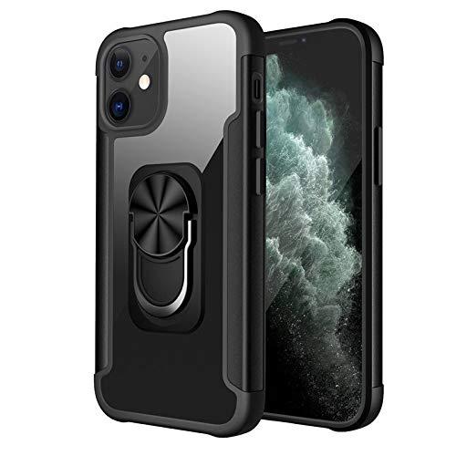 RZL Teléfono móvil Fundas para iPhone Pro MAX 12 11 Pro MAX, Transparente Titular Cubierta Trasera Ultra Delgada con Pata de Cabra Caja del teléfono para el iPhone 12 Mini