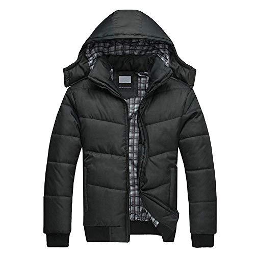 Daysing Herren Classics Herren Daunenjacke Winterjacke Hooded Puffer Jacket, Steppjacke gefüttert mit Kapuze Dicke warme Übergangsjacke, Winddichte Jacke