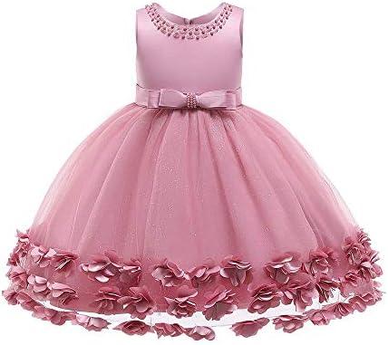 IBTOM CASTLE Girl Tutu Flower Petals Bow Bridal Dress for Toddler Girl Kids Princess Wedding product image