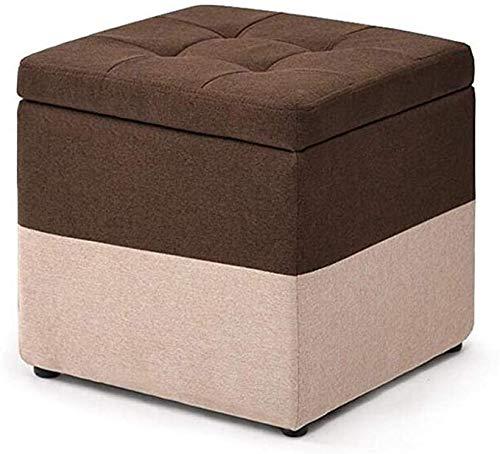 Storage Banken Box Kubus Chair Foot Kruk Plein Ottomaanse Met Deksel En Afneembaar Deksel Gestoffeerde Voetsteun Voor Living Room Hallway,A
