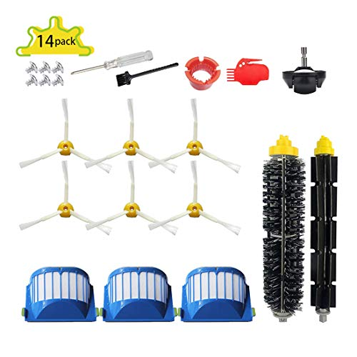 SENNII Replacement Parts Kit for iRobot Roomba Accessories 600 Series:675 690 670 671 680 650 630 614 660 651(Not for 645 655)& 500 Series 595 585 564 552 595 585 Vacuum Cleaner Replenishment Kit