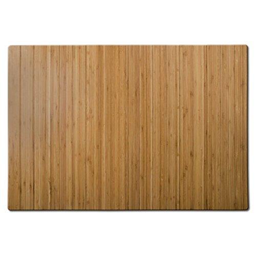 Bodenschutzmatte Floordirekt ECO | aus natürlichem Bambus | Schutz für Teppich und Hartböden | verschiedene Größen | 90x120 cm Natur