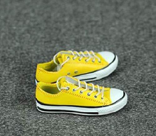 tytlmask kleding, model 1/6, sneaker, modieus, dames, geel, 12 inch