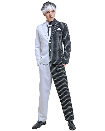 2 Face Black and White Cosplay Suit Costume