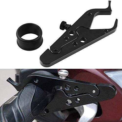 CYSKY Control de Crucero en Moto, Abrazadera de Bloqueo de Agarre de Mano de Aluminio con Anillo de Silicona Protege el Agarre del Acelerador para la mayoría de Las Motocicletas