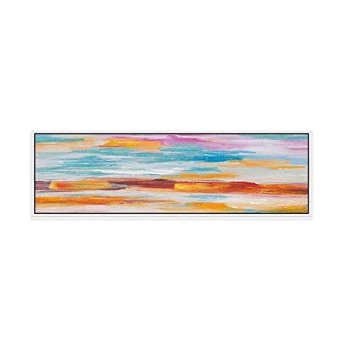 YYH Orizzontale versione parete casa decorazioni 100% dipinto a mano pittura a olio astratta contemporanea 120 * 35cm