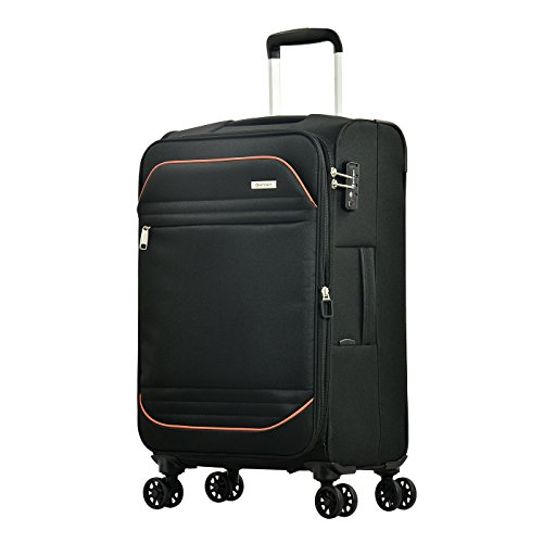 Eminent Suitcase Barcelona 67 cm 72 L Lightweight 4 Silent Double Wheels TSA Lock Black