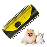 Joycabin Cepillo 3 en 1 para perros y gatos, ajustable, suave cepillo para pelusa de acero inoxidable, peine de gato, cepillo para mascotas para pelos de perros y gatos