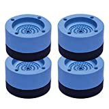 NiceJoy Lavadora pies Antideslizante para Anti vibración y el Ruido reducción de Goma,para Lavadora y Secadora Eleve la Altura de Reducir el Ruido,Lavadora textuales,Azul