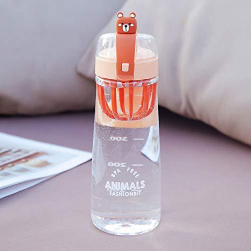 Botella de agua de dibujos animados lindo divertido lindo beber recto taza de plástico de gran capacidad pareja de estudiantes taza portátil al aire libre 550Ml