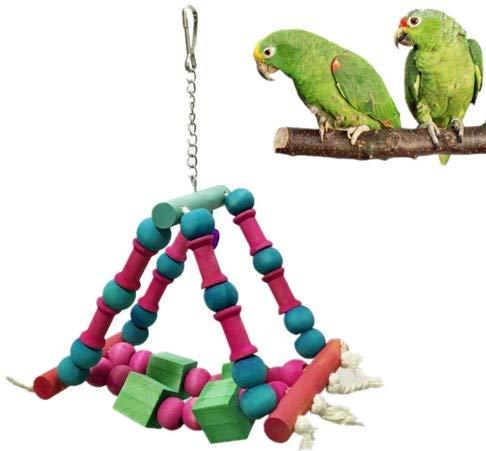 YAzNdom Parrot Swing Couleur Stand Shaker Hamac échelle Ladder Parrot Jouet