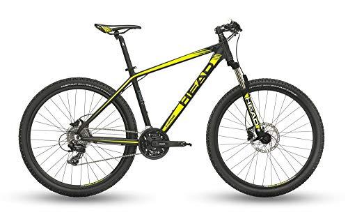 Head Bike MTB, Bicicletta Uomo, Grigio Opaco Giallo, 27,5/51cm