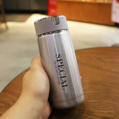 DSFJHSDFH Ultra-Klein Mini Mannen En Vrouwen Isolatie Cup Draagbare Student Trend Water Cup Lek-Proof Filter Thee RVS Waterfles