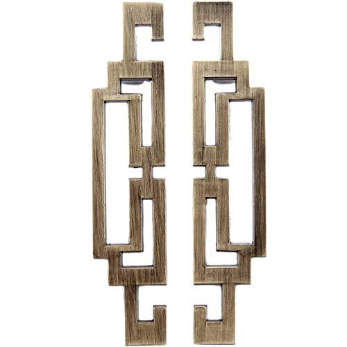 Maniglie per Guardaroba Tradizionali in Metallo Maniglia per Porta Scorrevole con Apertura Maniglia Rustico per Cancello Cucina Mobili Armadio Maniglione Tradizionale per Mobili in Metallo 2 Pezzi