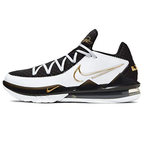 Nike Herren Lebron Xvii Low Leichtathletik-Schuh, Blanco/Metallic Dorado-Negro, 40 EU