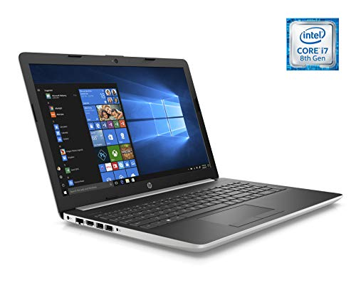 HP Laptop 39,6 cm (15,6 inch) HD (Intel Core i7-8565U, 8 GB RAM, NVIDIA GeForce MX130 2 GB, Windows 10) kleur zilver - Spaans QWERTY-toetsenbord 512 GB SSD Natuurlijk zilver.