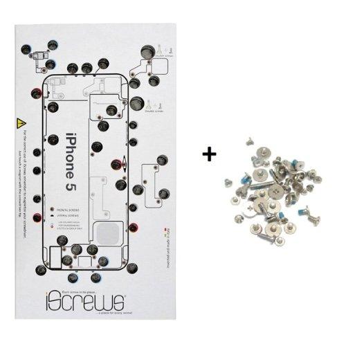 BisLinks Sostituzione iScrews Professional Repair Vassoio per iPhone 5 + Complete Full Screw Set