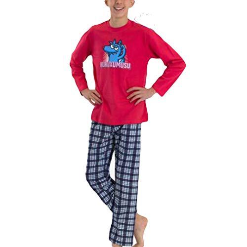 Kukuxumusu - Pijama NIÑOS TURURU Hombre Color: Rojo Talla: