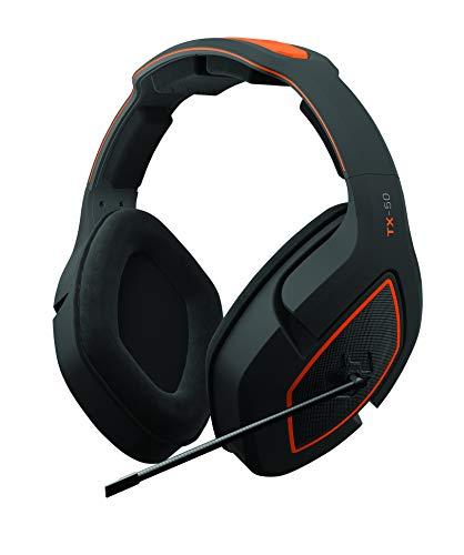 Gioteck TX50 Kopfhörer mit Mikrofon, Klinkenstecker 3,5 mm, für PS4 Xbox One und PC (Orange und Schwarz)
