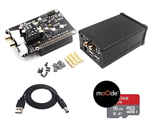 Raspberry Pi 4B / 3B / 3 ハイエンド Hi-Fi Sound Card 【32bit 384khz, DSD128 Support】+ 金属製専用ケース *デコーダーChip 旭化成製 AK4493 / オペアンプ OPA1612