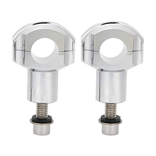 Lenker Riser, Aluminiumlegierung Material Motorrad Lenker Riser Montageklemmen Edge Cut 1in/25mm Universal Silber Höhenadapter