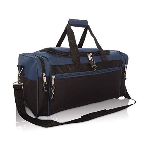 DALIX Sporttasche, 48,3 cm, Schwarz / Rot / Pink / Violett / Marineblau / Grau / Blau, marineblau (Blau) - DF-019-Navy-Blue