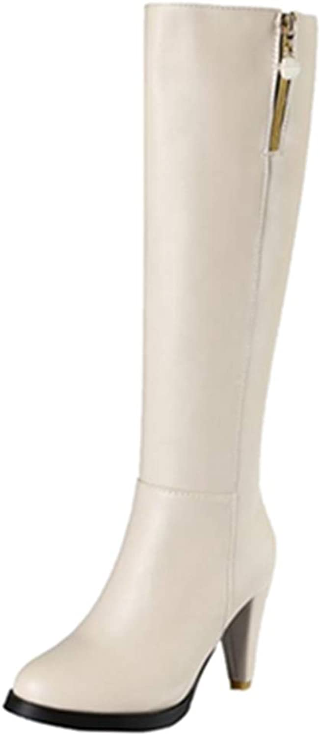 Smilice Women Knee High Jack Boots
