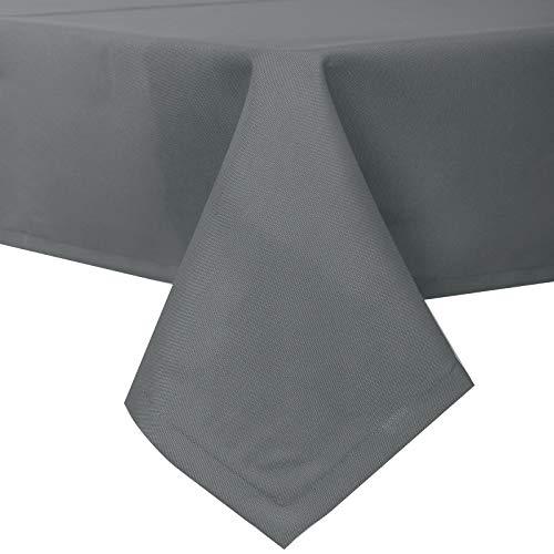 EUGAD Tischdecke Abwaschbar Tischwäsche Wasserabweisend Tischtücher Lotuseffekt Eckig viele Größe Farbe wählbar, 130x180 cm Dunkelgrau