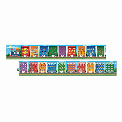 Melissa & Doug Number Train Jumbo Floor Puzzle (20 Pieces, 96