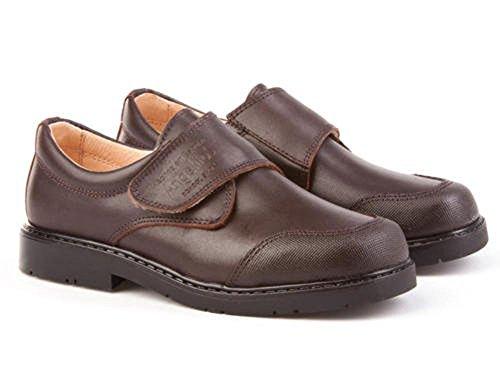 Zapatos Colegiales con Puntera Reforzada Todo Piel, Mod.452. Calzado Infantil (Talla 36...