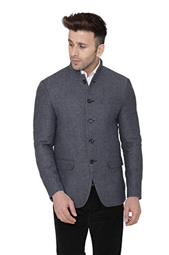 Mens Casual and Festive Blue Tweed Blazer Jacket