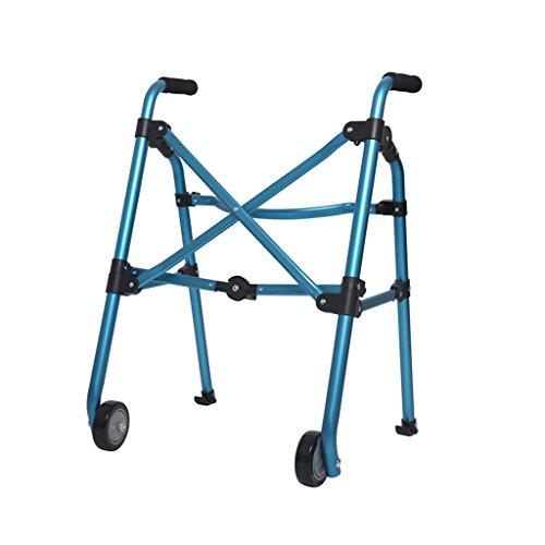 Zimmer Walker Portable fahrbare Gehhilfe zusammenklappbar für ältere Behinderte Rollator Blau