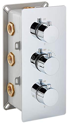 Miscelatore termostatico doccia a incasso - 6 uscite / 6 funzioni UP11-01