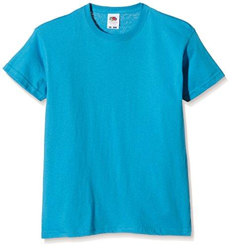 Fruit Of The Loom SS132B T-Shirt da Ragazzi, Colore Blu (Azure Blue), Taglia 10-11 Anni (Taglia Produttore: 140 cm)