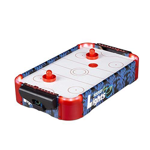 SHMZQ Air Hockey Tischspiel, Indoor Outdoor Tischspiel Set Geschenke für Kinder Jugendliche und Erwachsene Batteriebetriebenes Gebläse Erwachsene Geschenke