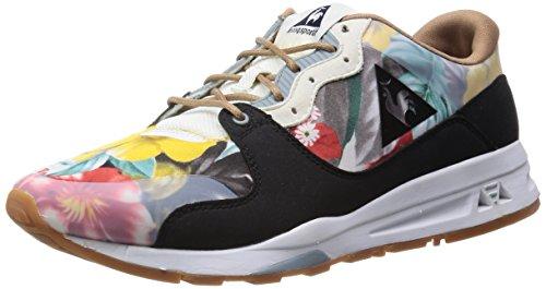 Le Coq Sportif LCS R 1400 Zapatillas con Estampado de Flores, Color Negro - Negro/Colores, 39