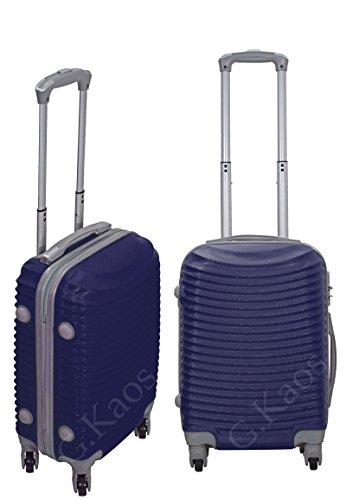 Trolley da cabina 50 cm valigia rigida 4 ruote 360° gradi in abs policarbonato antigraffio misura 50X36X20 art. 2030