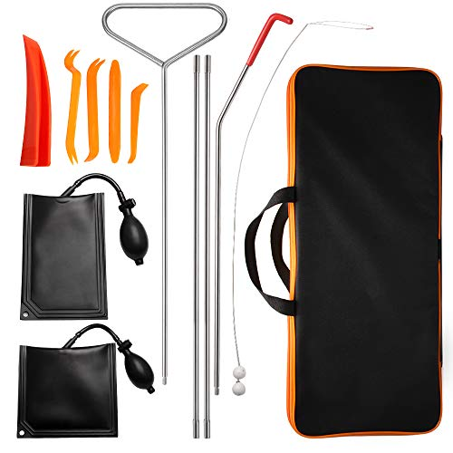 Top10 Racing Car Tool Kit 12 PCS, Multi-Function Out Tool Set with Rods, Bag for Truck Vehicles