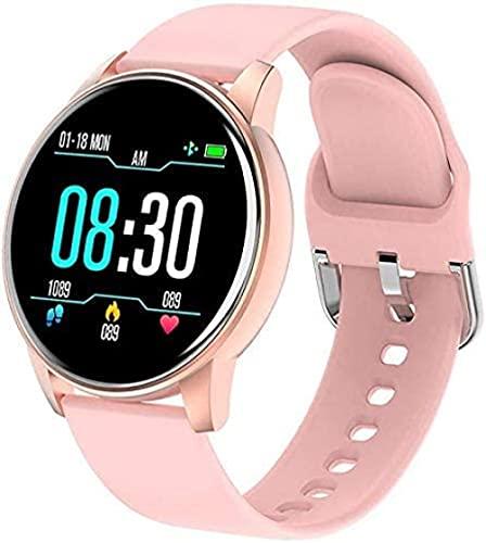 Mujer s reloj inteligente tiempo real pronóstico del comportamiento seguimiento del corazón monitores reloj inteligente mujeres s deportes hombres s pulseras deportivas para Android IOS