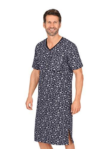 Trigema Herren 637041121 Nachthemd, Navy, XL