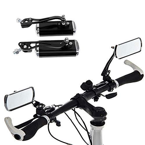 Gasea Espejo Retrovisor de Bicicleta de Montaña, Espejo de Aleación de Aluminio, Ajustable Espejos Retrovisores de Seguridad Flexibles Accesorios para Bicicletas