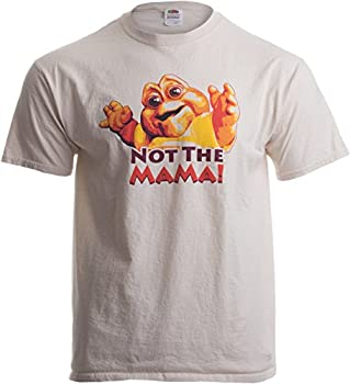 NOT THE MAMA! Adult Unisex T-shirt / 90s Dinosaur TV Tribute Shirt Brown Large