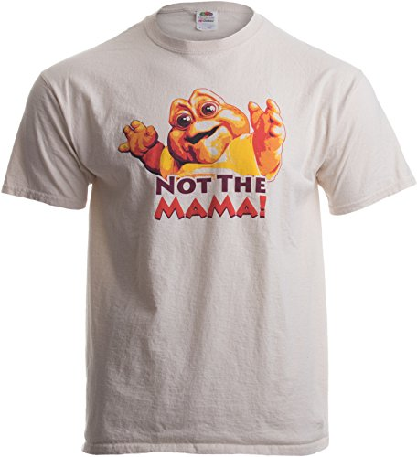 NOT THE MAMA! Adult Unisex T-shirt / 90s Dinosaur TV Tribute Shirt Brown, Large
