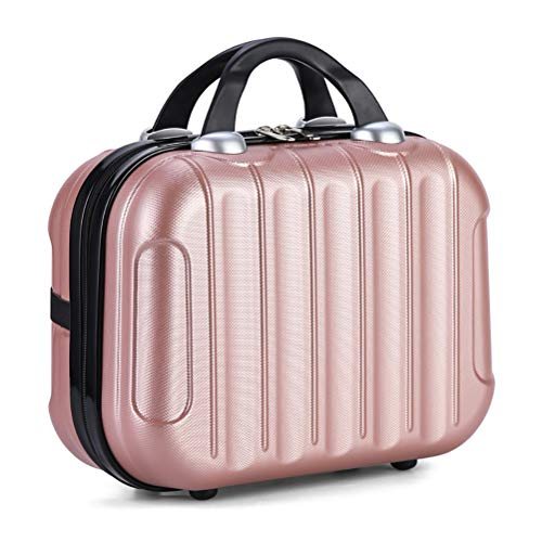 Leikance Mini Hand Travel Suitcase,Portable Travel Bag Waterproof Cosmetic Case with Elastic Straps 14 inch
