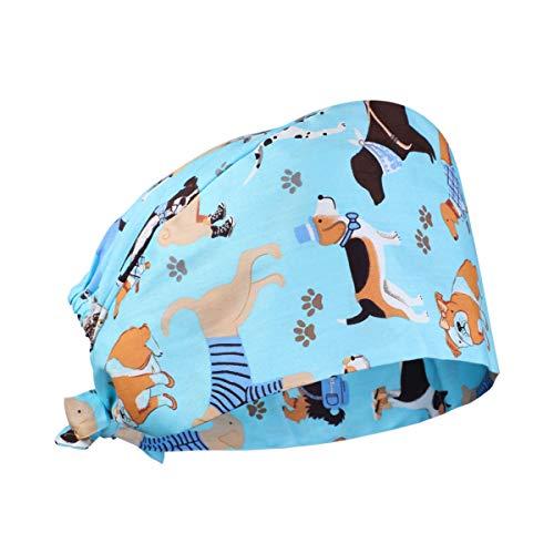 PRETYZOOM OP Arzt Haube Chirurgische Hut Baumwolle Kopfhauben Kochmütze Verstellbar Peeling Kappe für Zahnarzt Krankenschwester Chemo Bandana Kopfbedeckung