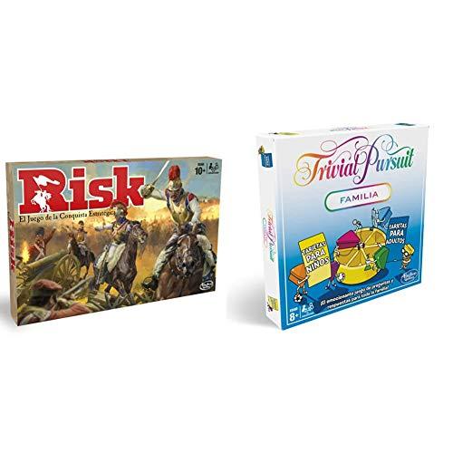 Hasbro Gaming Juego de Mesa Risk, B7404105 + Trivial Pursuit (Versión Española) (E1921105)