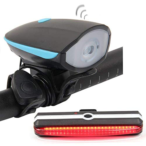 Ljmm888 Warning Taillight Headlight Set USB Charging Horn Light 300 Lumen Bicycle Headlight