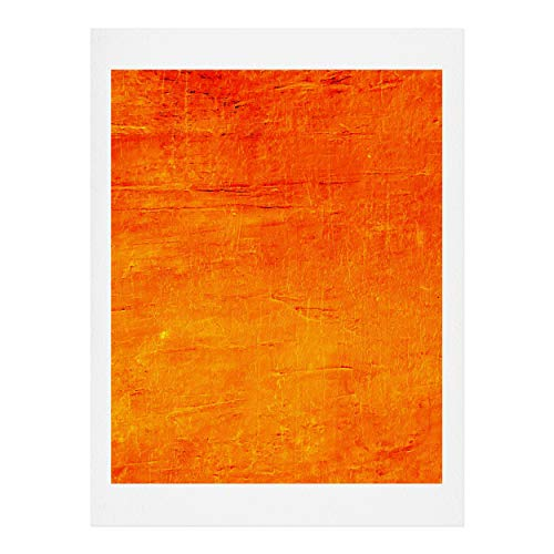 Society6 Sheila Wenzel-Ganny Orange Sunset Textured Acrylic Kunstdruck, Baumwollfaser-Papier, 18